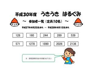 H300318 うきうき春組参加者一覧